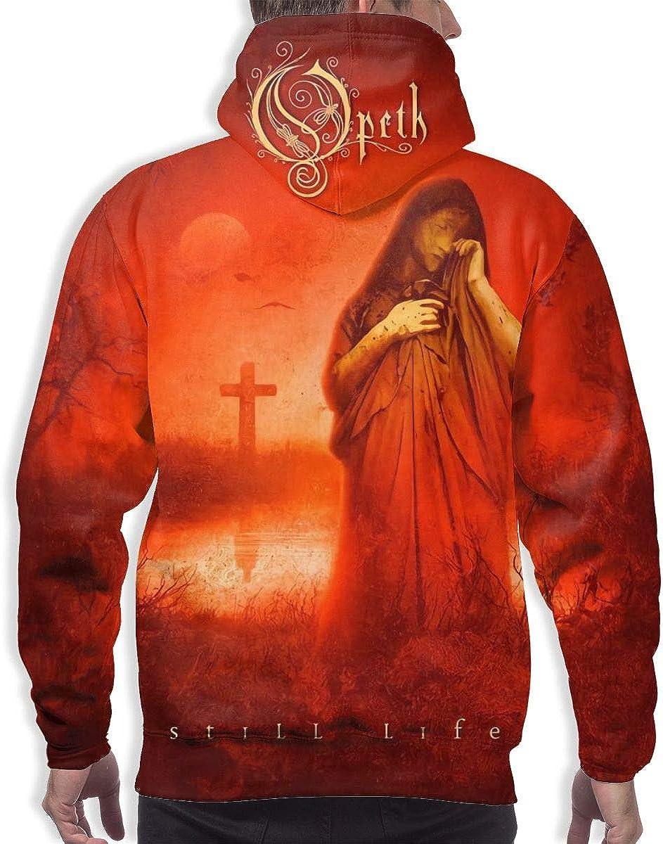 Polyester Full-Print Sweater LarryCAdamson Opeth Still Life Mens Casual Hoodie Sweatshirt