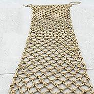 Children Safety Hemp Rope Net - Safety Nets Cargo Rope Ladder Truck Trailer Heavy Duty Netting Wear-Resistant