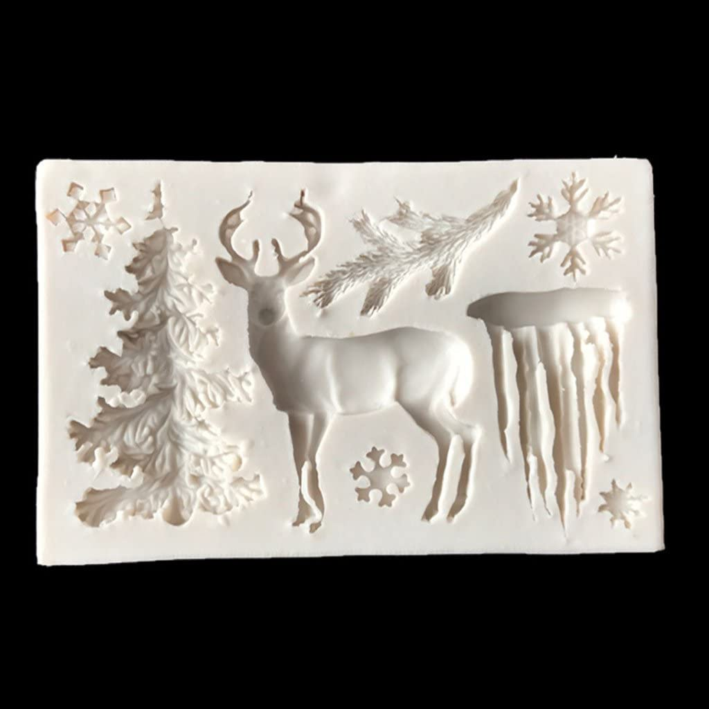 Christmas Reindeers Where/'s the Sleigh Silicone Mould by Fairie Blessings