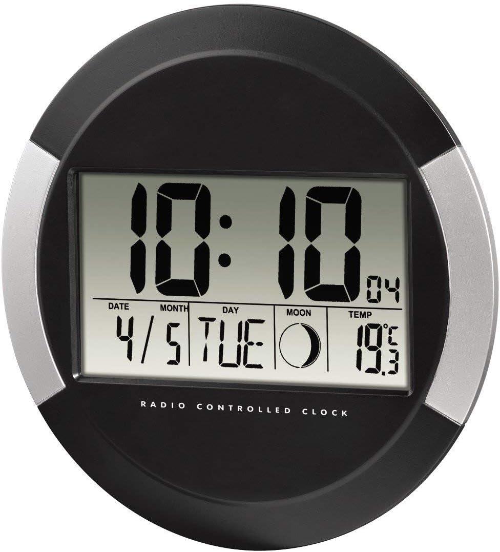 Hama pp-245 - Reloj de pared digital, color negro, plástico