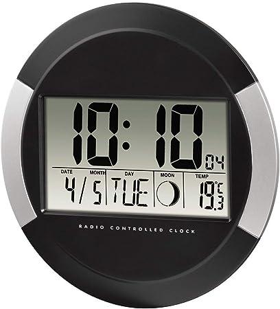 Hama pp-245 - Reloj de pared digital, color negro, plástico: Amazon.es: Hogar