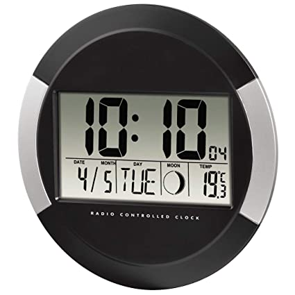 Hama pp-245 - Reloj de pared digital, color negro, plástico