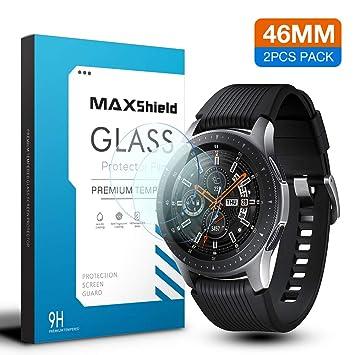 e4f95da24 MAXSHIELD Samsung 2018 Galaxy Watch 46mm Smartwatch Tempered Glass ...