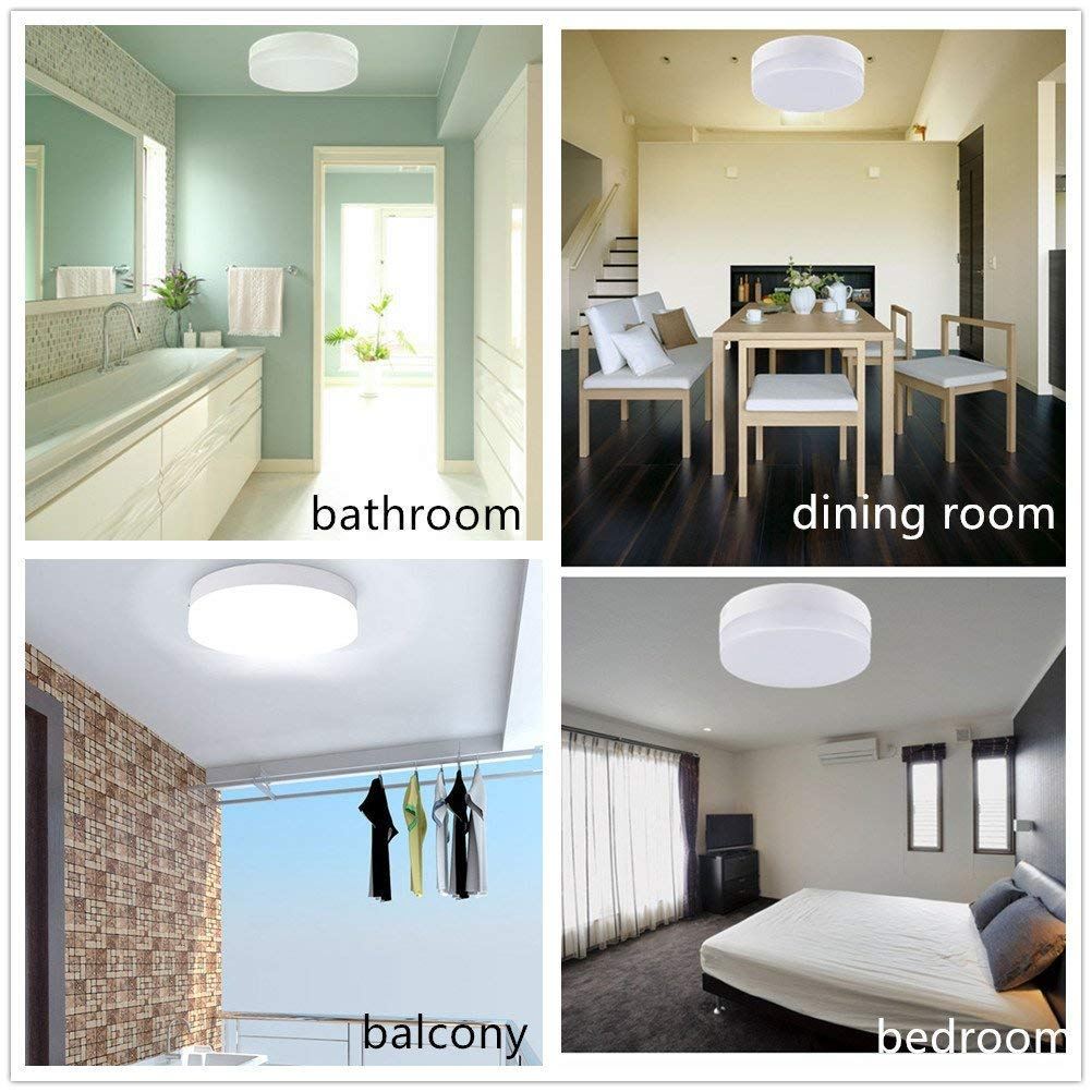 Dimmable Led Flush Mount Ceiling Light Fixture 18w Stylish Flat Hall Worked Before Installing A New In Bathroom Round Surface Downlight Lamp For Closet Bedroom Dining Room Kids Lighting With