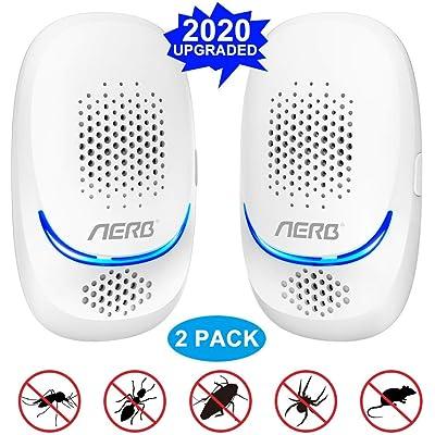 [NUEVO] Aerb Repelente Ultrasónico de Plagas, mosquitos ultrasónicos portátiles de 10 W, 100% seguro para personas y animales, para ratones, pulgas, mosquitos, cucarachas, hormigas, arañas [No Tóxico]