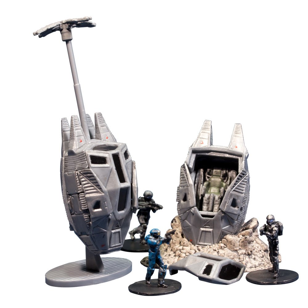 Includes 2 with Debris Base, Drag Chute and Buck McFarlane Toys Halo Micro Ops Series 1 Odst Drop Pads 19183-7
