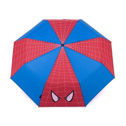ADJOY9 Manual Cartoon 8-rib Pongee Cloth Windproof 3-Fold Kids Mini Rain  Umbrella