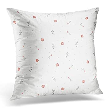 Amazon VANMI Throw Pillow Cover White Watercolor Small Flowers Delectable Tiny Decorative Pillows