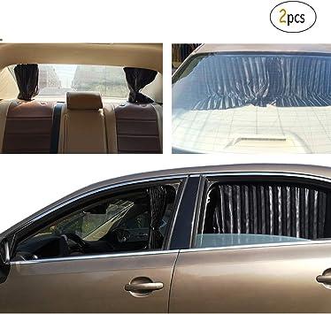 Cortinillas Laterales Coche Magn/ético 2 Piezas para el Frente Negro M/ás Imanes Ajuste Universal ZATOOTO Parasol Coche Lateral