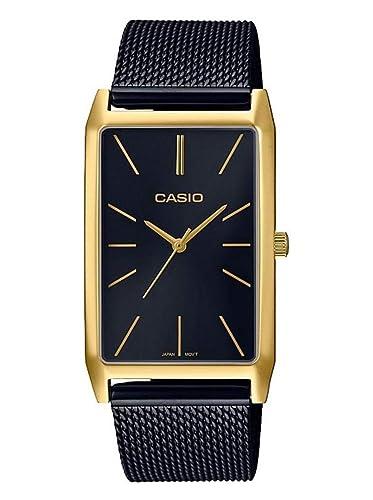 6a6888270eca Casio Reloj Analógico para Mujer de Cuarzo con Correa en Acero Inoxidable  LTP-E156MGB-1AEF  Amazon.es  Relojes