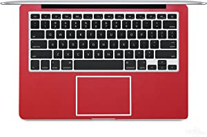 """2-Pack BingoBuy Customized Free Cut Palm Rest Palmrest Vinyl Sticker w/Touchpad Trackpad Sticker for 13.3"""" MacBook pro with Retina Model: A1425 or A1502 (Shimmery Red)"""