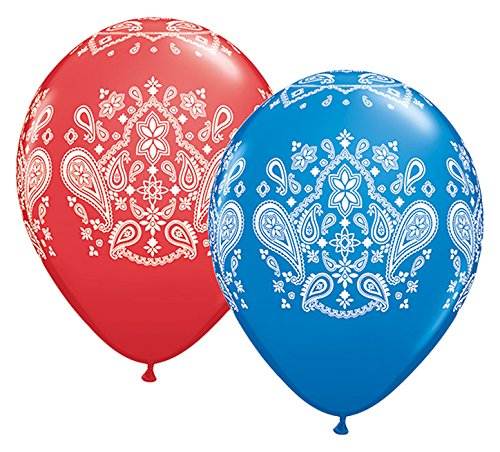 Qualatex 44801 Bandana Latex Balloons, 11
