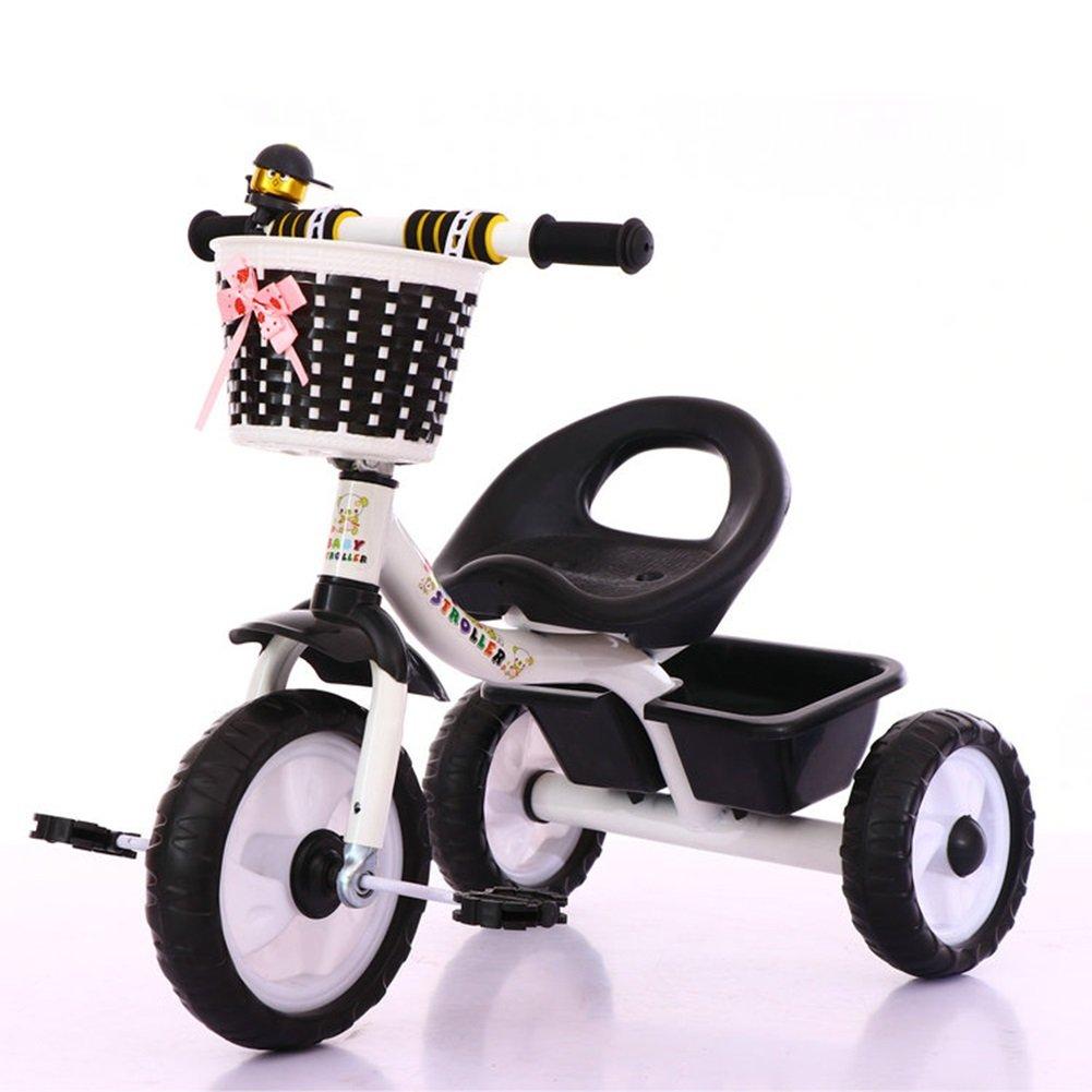 XQ 子供用三輪車軽量発泡ホイール1-3-5歳 子ども用自転車 ( 色 : ブラック ) B07C6W5JGR ブラック ブラック