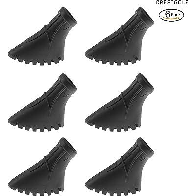 CRESTGOLF - Juego de 6 almohadillas de goma para asfalto y escalada, diseño nórdico