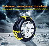 Anti Slip Tire Chain, Snow Chains for Cars, Double Clip, Premium Tendon, Easy To Install, Emergency Thickening Anti-Skid Tire Chains Traction Auxiliary for Most Car SUV Truck