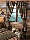 Timber Woods Moose & Bear Drapes - Rustic Window Treatments