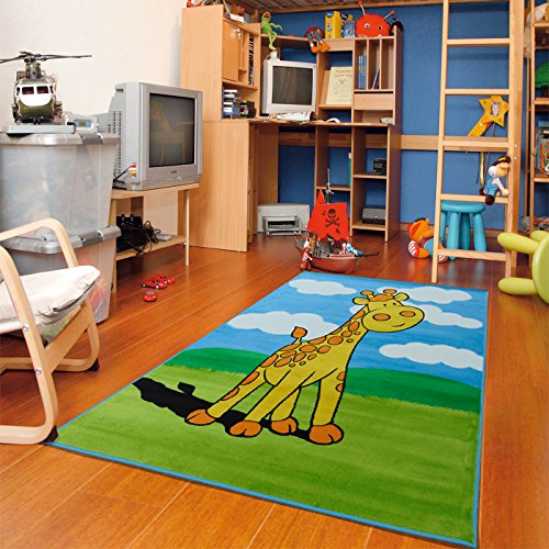 New Soft Adorable Kids Area Rugs Kids Rugs Girl Cute Giraffe Whimsical Kids Area Rug, 3x5 Kids Rugs for Bedroom