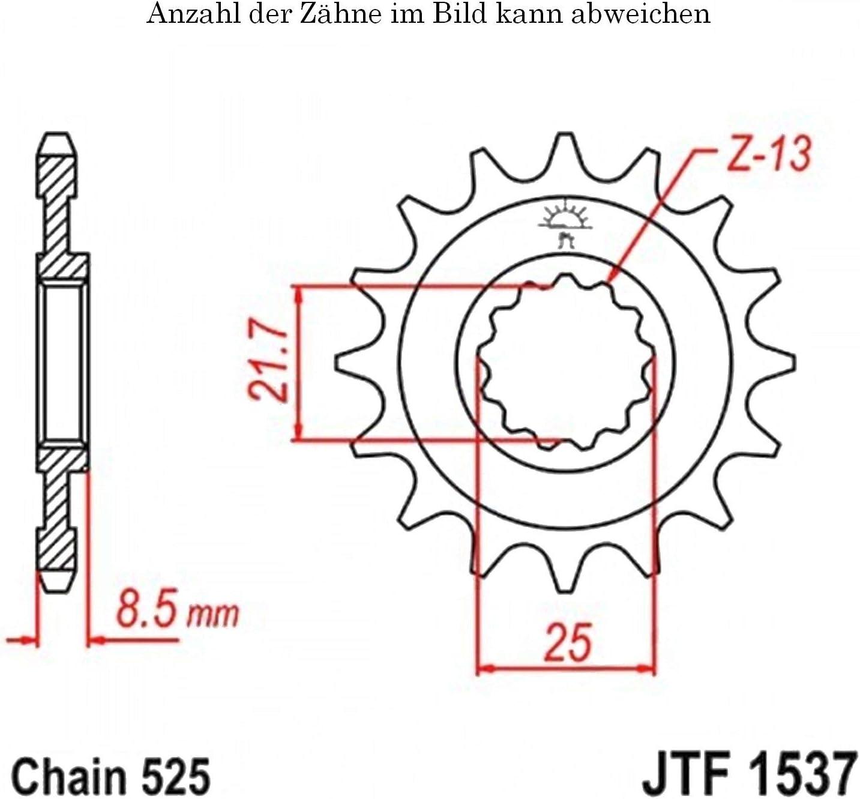 Ritzel 17 Z/ähne f/ür ZX-10R 1000 S Ninja Winter Test Edition ABS Baujahr 2016-2017 von jtSprockets