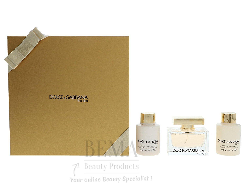 Dolce   Gabbana The One Eau de parfum pour femme en flacon vaporisateur, lotion  pour le corps et gel douche, 275 ml  Amazon.fr  Beauté et Parfum 46622cd683da