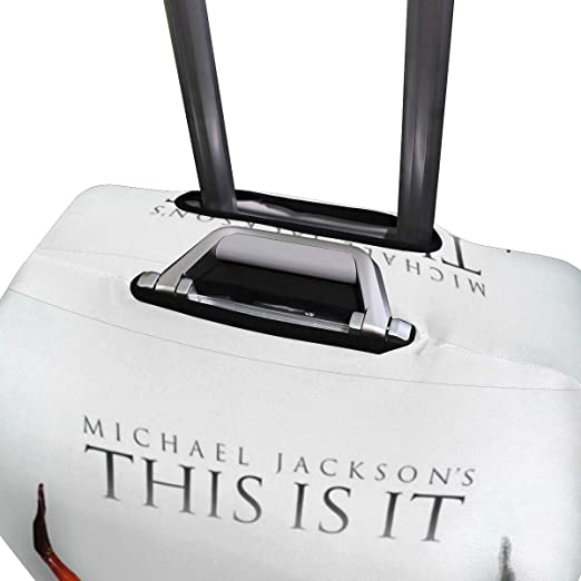 Fit 18 to 32 29-32 inch Jacksome Black Camera Travel Suitcase Protector Zipper Suitcase Cover Washable Print Luggage Cover Size XL