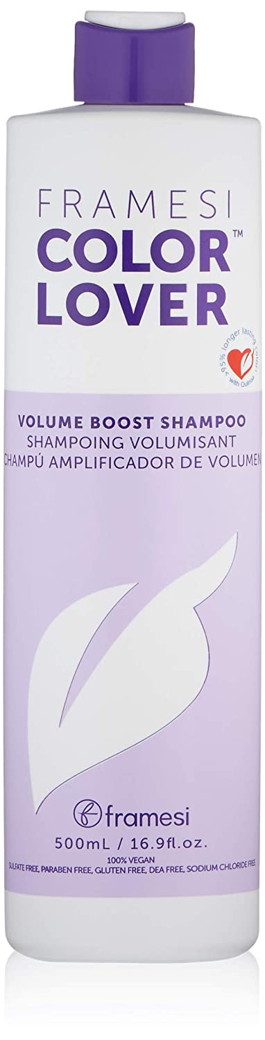 Framesi Color Lover Volume Boost Shampoo, Color Safe, Weightless, Volume Shampoo With No Sulfate, Gluten Free, 16.9 Fl Oz