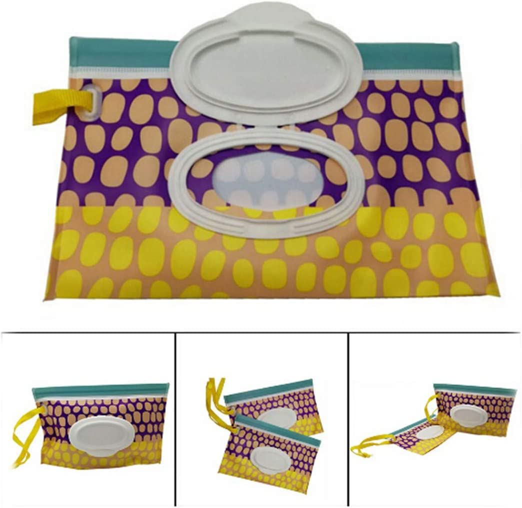LIUCM Durable Travel Portable Baby Wipes Bag Storage Box Wet Wipes Cover Container for Wet Wipes Travel Wipes Bag Reusable