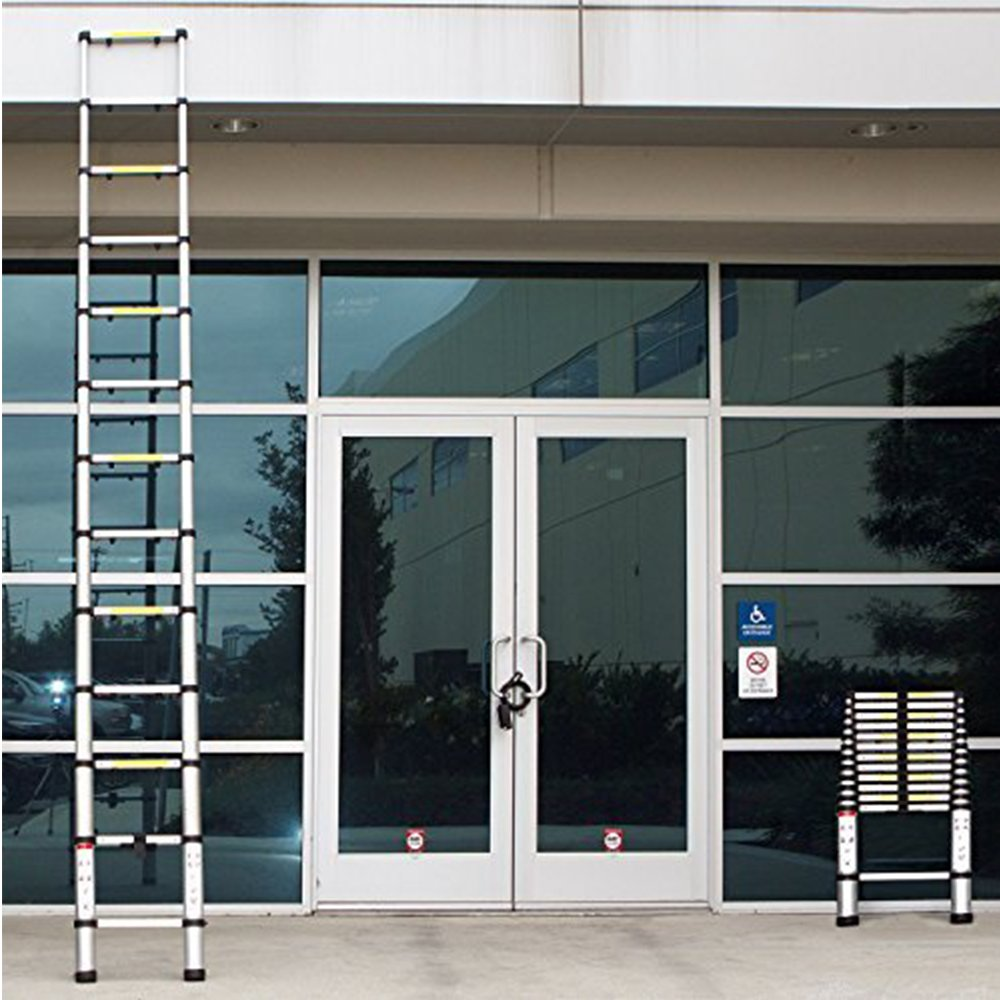Telescoping Ladder Jason 8.5FT | 2.6M Max Load 330lbs Aluminum Ladder Extendable Ladder with EN131 and CE Standard [Step A +++](8.5FT/2.6M) by jason (Image #5)