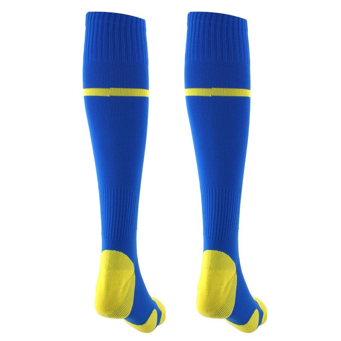 Amazon.com : eDealMax de Nylon, actividades al aire Libre, Rodilla, elástico Rugby Fútbol Fútbol Formación calcetines Par : Sports & Outdoors