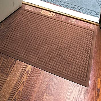 Microfibre® Low Profile Squares 2 Foot X 3 Foot Door Mat In Chocolate