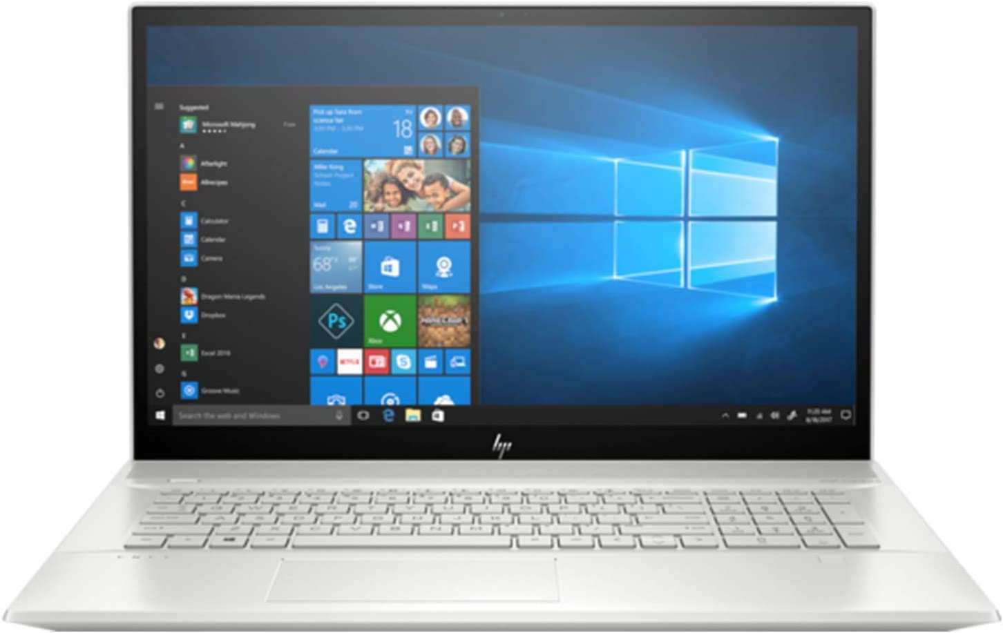 "Newest HP Envy 17t Touch Quad Core with 10th Gen.Intel i7-10510U, NVIDIA GeForce MX250 4GB GDDR5, 17.3"" WLED, Windows 10 PRO Upgrade Bang & Olufsen Laptop PC (16GB DDR4, 1TB HDD+256GB SSD)"