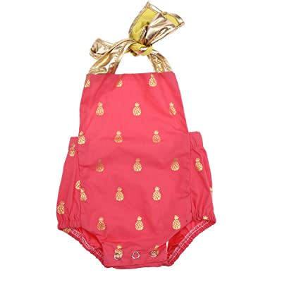 La Cabina Mignon Vêtement Bébé Fille Girl Combinaison Barboteuse en Jean Tops à Manches Court+ Culotte Dessin Lapin Vêtement de Ramper Mignon