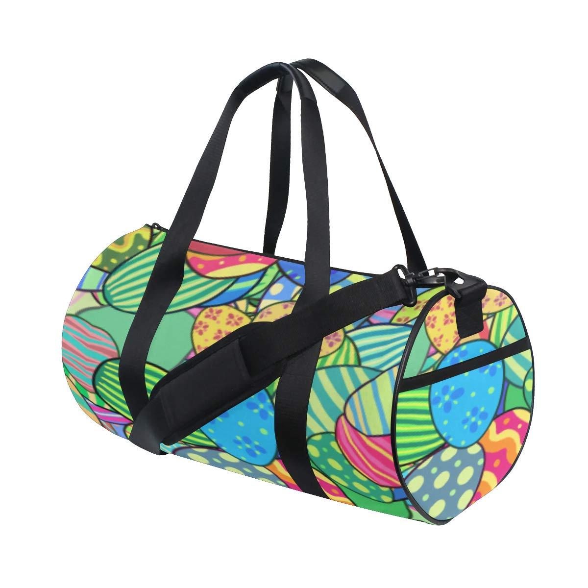 be3cea194c66 Amazon.com: Handbags Daily Eggs Colorful Funny Cute Weekender Bag ...