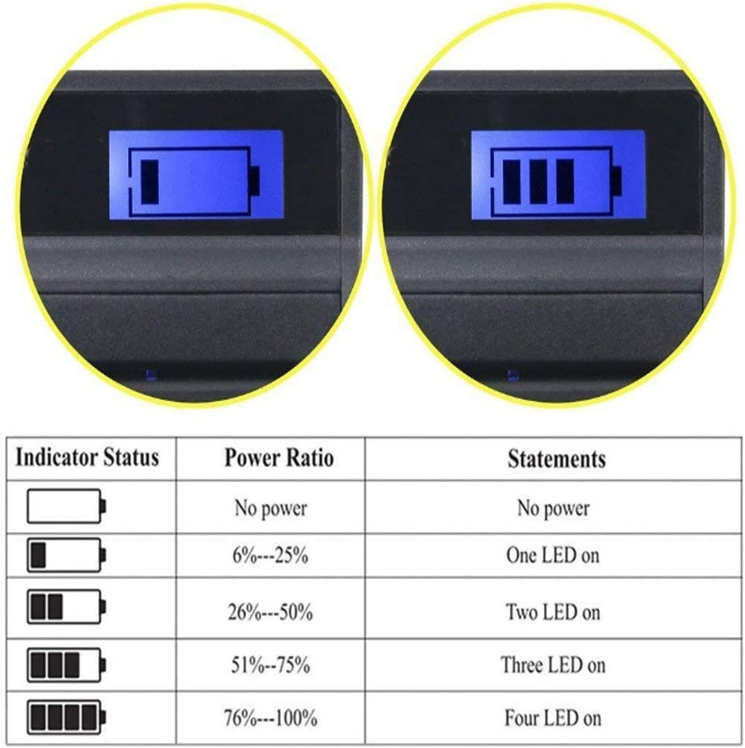 DCR-HC85 Handycam Camcorder Battery Charger for Sony DCR-HC62 DCR-HC65