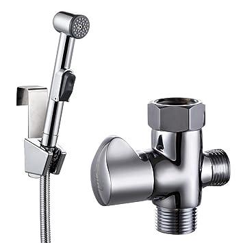 KES Toilet Handheld Bidet Sprayer with T Adapter Valve Hose and Bracket  Holder Toilet Attachment. KES Toilet Handheld Bidet Sprayer with T Adapter Valve Hose and
