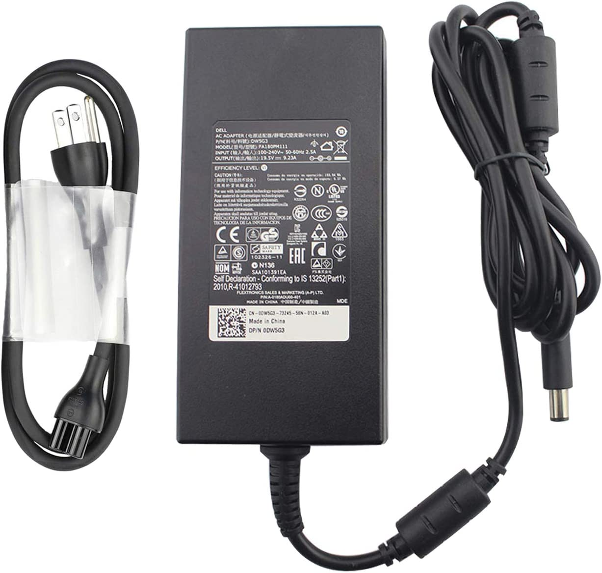 New Alienware 180W AC Charger for Dell Alienware 13 15 17 R1 R2 R3 R4 R5 M13 14 M14X M11X G3 G5 G7 Games Laptop Power Adapter Supply