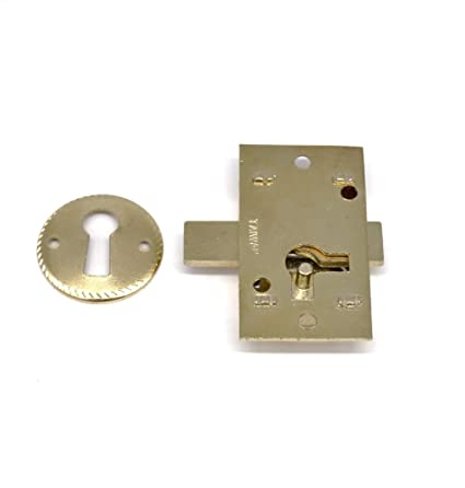 Antique Cabinet Lock with Key Drawer Lock with Key Flush Mount Lock Non  Mortise Lock Antique - Antique Cabinet Lock With Key Drawer Lock With Key Flush Mount Lock