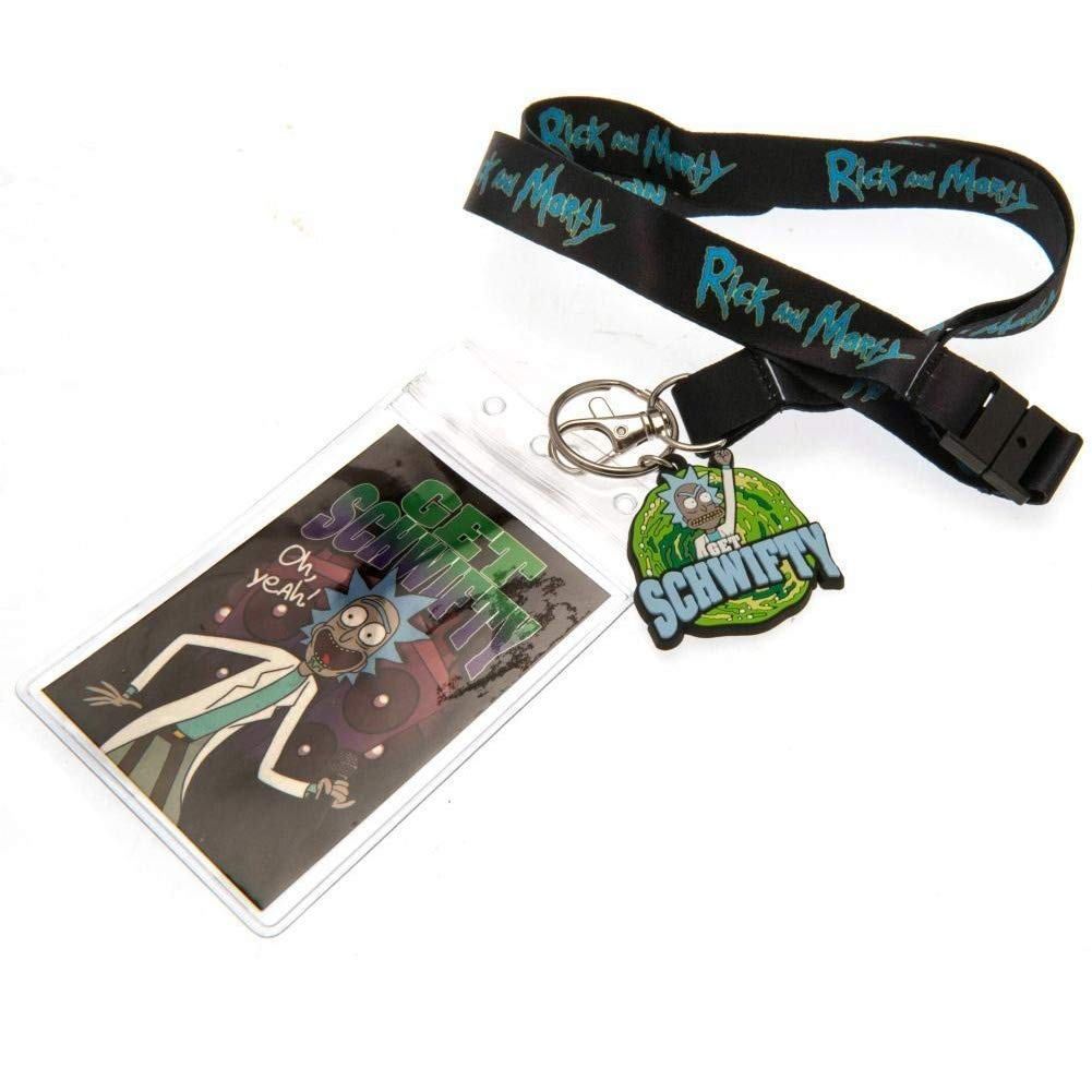 Rick And Morty Schwifty Lanyard And Keyring Set One Size Multicolored