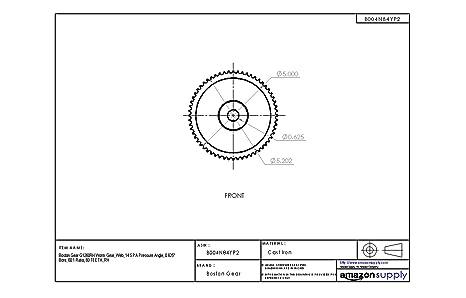 Boston Gear G1260RH Worm Gear RH 0.625 Bore 60:1 Ratio 14.5 PA Pressure Angle 60 TEETH Web
