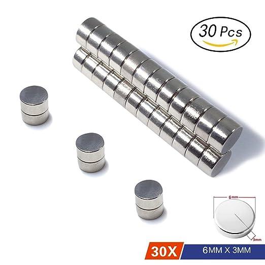 4 opinioni per 30 pezzi magneti al neodimio N45 dischi 6x3 mm | Magnete da frigorifero Calamita