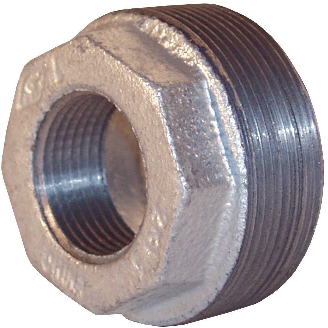Dixon HB2075G 150# Galv Iron Reducer Hex Bushing 2 MNPT x 3//4 FNPT