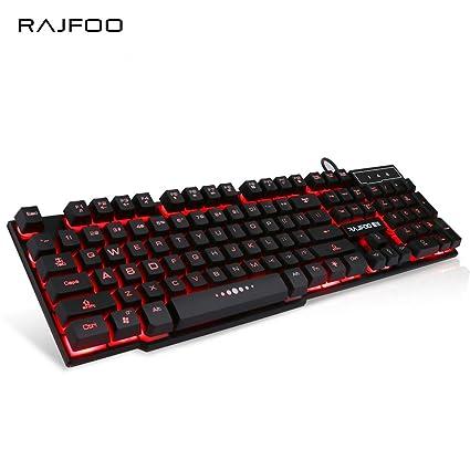 Amazon.com: Wired Gaming Keyboard with 3 Colors LED Backlit light Float Keycap for Desktop Laptop Macbook USB Teclado Gamer: Everything Else