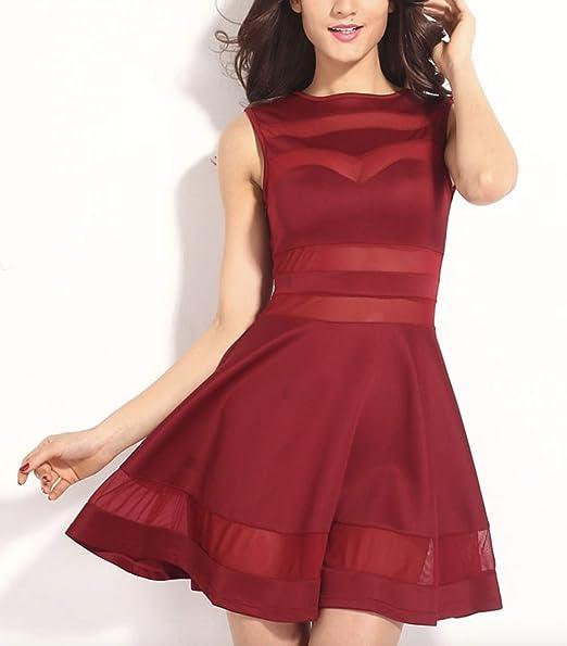 Vestidos De Fiesta Cortos Para Mujer Elegantes Color Vino