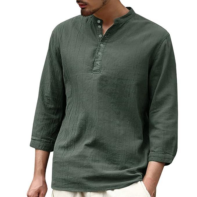 Ybenlover Camisa Casual - para Hombre YsxRpLF