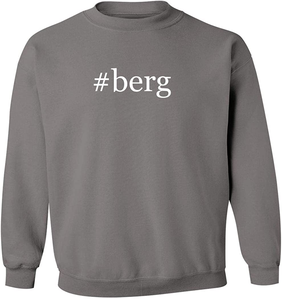#berg - Men's Hashtag Pullover Crewneck Sweatshirt, Grey, Large