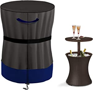 Pacific Cool Bar Cover Outdoor Patio Furniture Cover and Hot Tub Side Table Cover with 7.5 Gallon Beer and Wine Cooler