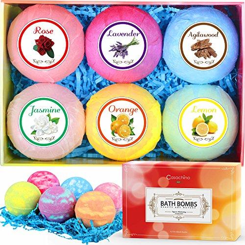 Casachino Bath Bombs Gift Set 6 X 4.2 oz,Perf...