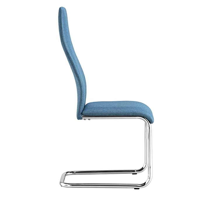 CARO-Möbel Esszimmerstühle 4er Set Küchenstuhl Schwingstuhl SAGRES ...