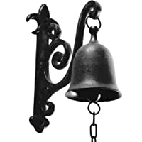 DECONOOR Vintage Cast Iron Dinner Bell as Entry Door Bell, Outside Decor or Indoor Decoration Wall Mounted Antique Decor…
