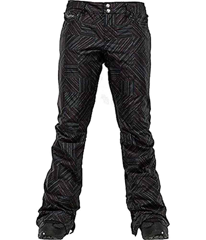Burton Womens Snowbording Pant: True Black Ghost Check True Black)