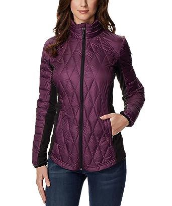 66471733223 32 DEGREES Ladies  Mixed Media Down Jacket at Amazon Women s Coats Shop